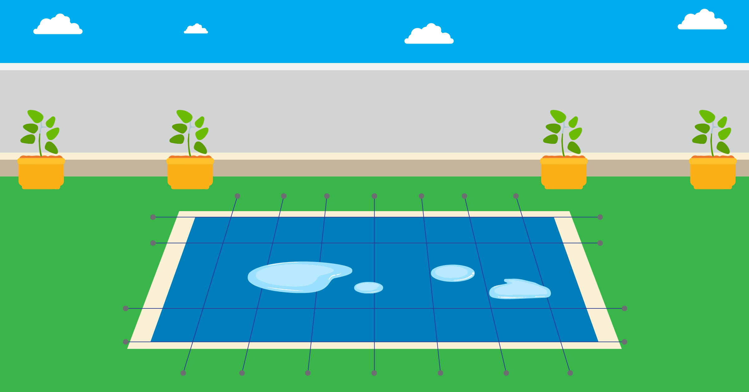 keep pool cover from sagging