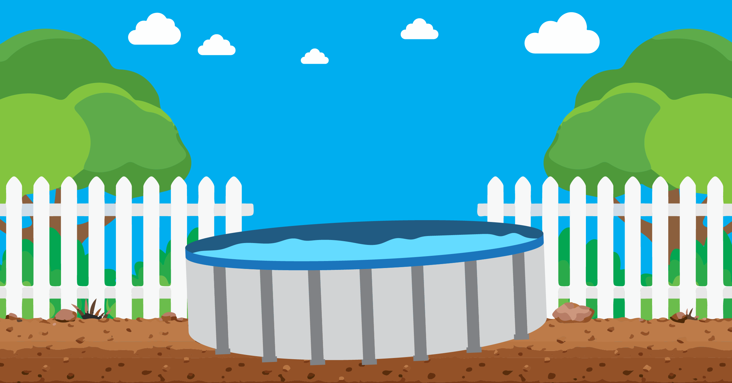 level an above ground pool with water in it